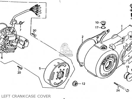 Honda Ct50jc Motra Japan Left Crankcase Cover