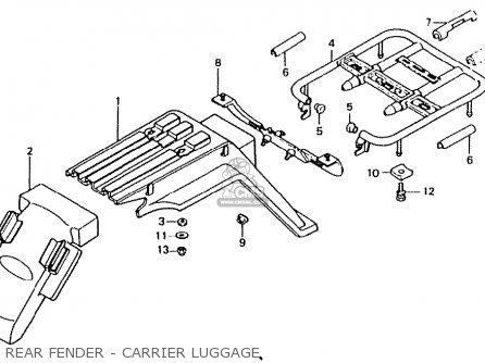 Honda Ct50jc Motra Japan Rear Fender - Carrier Luggage