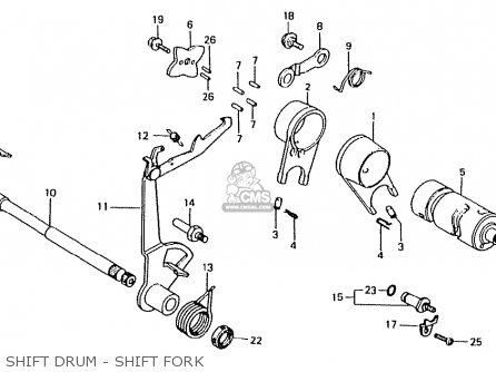 Honda Ct50jc Motra Japan Shift Drum - Shift Fork
