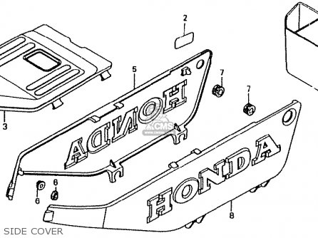 Honda Ct50jc Motra Japan Side Cover