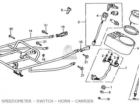 Honda Ct50jc Motra Japan Speedometer - Switch - Horn - Carrier