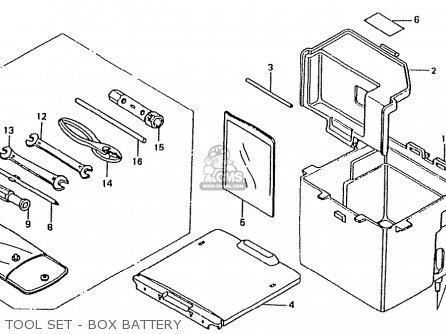 Honda Ct50jc Motra Japan Tool Set - Box Battery