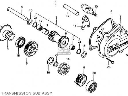 Honda Ct50jc Motra Japan Transmission Sub Assy