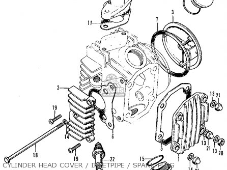 honda ct70 trail 70 1972 ct70k1 usa parts lists and schematics Honda Schematics cylinder head cover inletpipe spark plug honda ct70 trail 70 1972 ct70k1 usa cylinder
