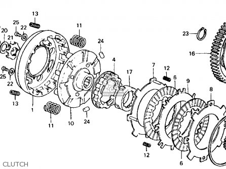 honda ct 70 k3 clutch assembly diagram harley davidson clutch assembly diagram honda ct70 trail 70 1974 ct70k3 usa parts lists and schematics