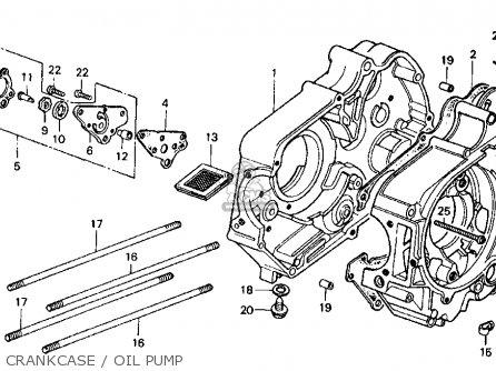 Honda Ct Trail Ct K Usa Crankcaseoil Pump Mediumhu E Bd B on Honda Trail 70 Carburetor Diagram