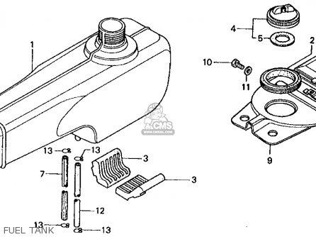 Honda Ct70 Trail 70 1974 Ct70k3 Usa Parts Lists And Schematics