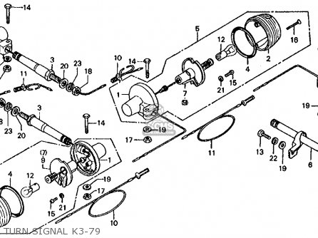 Honda Ct 70 K3 Clutch Assembly Diagram