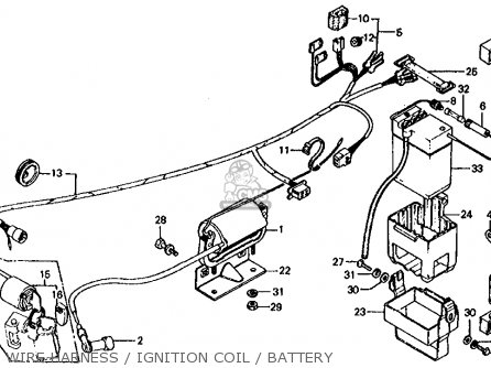 1972 Honda Z50 Wiring Diagram