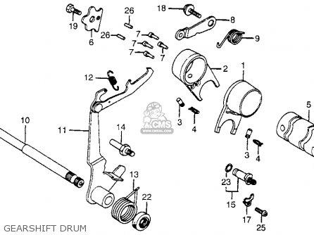 Headlight Speedometer Horn Schematic Honda Ct70 Trail 70 1980 Usa