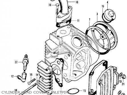 Honda CT70 TRAIL 70 K0 1969 USA parts lists and schematics