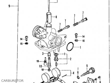 Honda Ct70 Trail 70 K2 Usa Carburetor