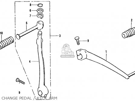 Honda Ct70 Trail 70 K2 Usa Change Pedal   Kick Arm