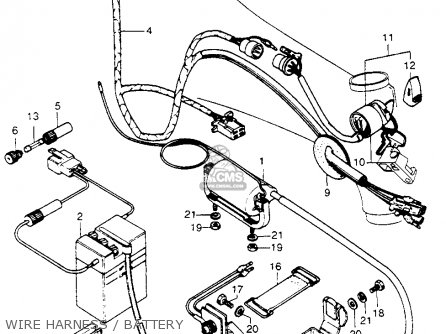 Honda CT70H TRAIL 70H 1972 CT70HK1 parts lists and schematics