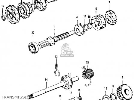 honda ct90 trail 1972 k4 usa parts lists and schematics