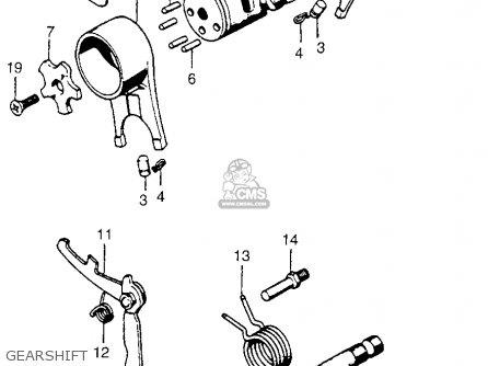 Honda Ct Trail Usa Gearshift Mediumhu E E on Honda Ct200 Trail 90 1964 Usa Parts List Partsmanual Partsfiche