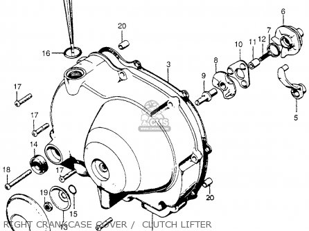 Honda Ct90 Trail 90 K5 1974 Usa Cylinder Cylinder Head Schematic