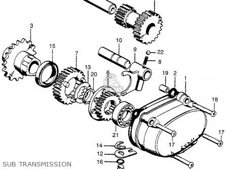 honda ct90 trail 1974 usa parts lists and schematics 1971 Honda CT90 Wiring-Diagram honda ct90 trail 1974 usa sub transmission