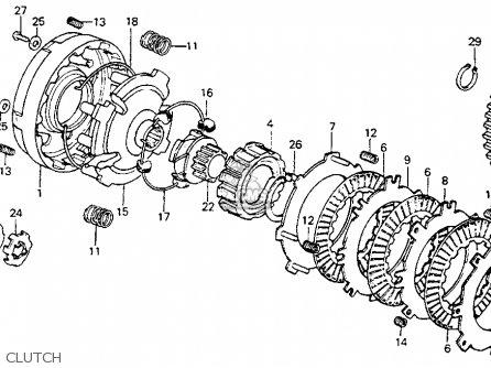 Honda Ct Trail K Usa Clutch Mediumhu E Fc on Honda Ct200 Trail 90 1964 Usa Parts List Partsmanual Partsfiche