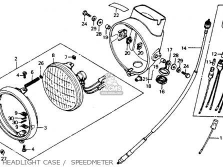 Honda Ct Trail K Usa Headlight Case Speedmeter Mediumhu F Beac on Honda Ct200 Trail 90 1964 Usa Parts List Partsmanual Partsfiche