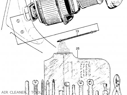 Honda Ct90 Trail 90 1966 Ct90k0 Usa Air Cleaner   Tool