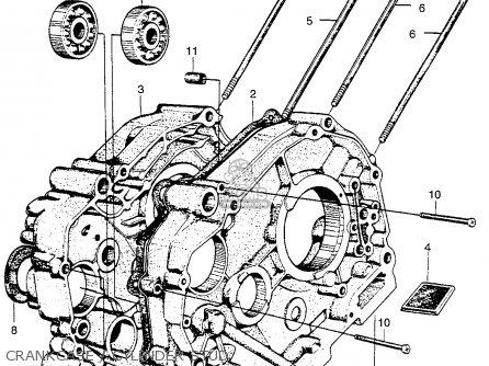 Honda Ct90 Trail 90 1966 Ct90k0 Usa Crankcase   Cylinder Stud