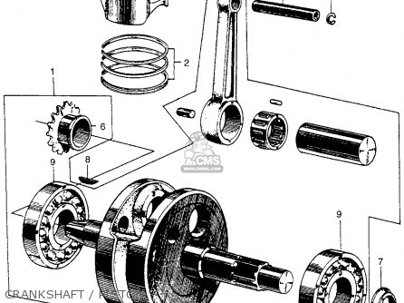Honda Ct90 Trail 90 1966 Ct90k0 Usa Crankshaft   Piston