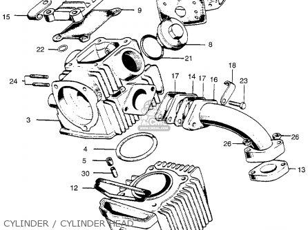 Honda Ct90 Trail 90 1966 Ct90k0 Usa Cylinder   Cylinder Head