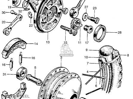 Honda Ct90 Trail 90 1966 Ct90k0 Usa Front Wheel