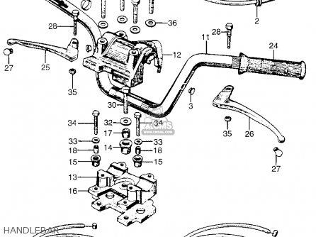 Honda Ct90 Trail 90 1966 Ct90k0 Usa Handlebar