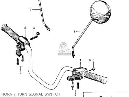 Honda Ct90 Trail 90 1966 Ct90k0 Usa Horn   Turn Signal Switch