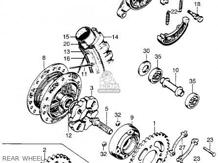 Honda Ct90 Trail 90 1966 Ct90k0 Usa Rear Wheel