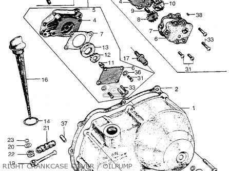 Honda Ct90 Trail 90 1966 Ct90k0 Usa Right Crankcase Cover   Oilpump