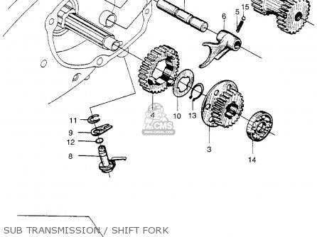 Honda Ct90 Trail 90 1966 Ct90k0 Usa Sub Transmission   Shift Fork