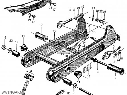 Honda Ct90 Trail 90 1966 Ct90k0 Usa Swingarm