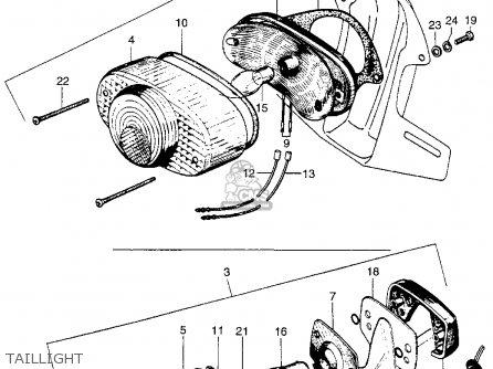 Honda Ct Trail Ct K Usa Taillight Mediumhu F on Honda Ct200 Trail 90 1964 Usa Parts List Partsmanual Partsfiche
