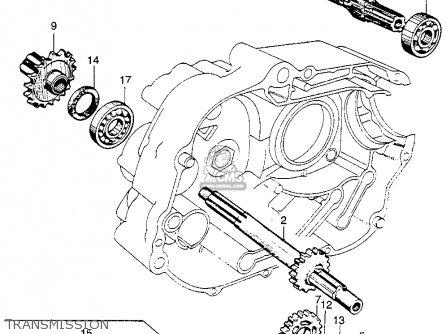 Honda Ct90 Trail 90 1966 Ct90k0 Usa Transmission