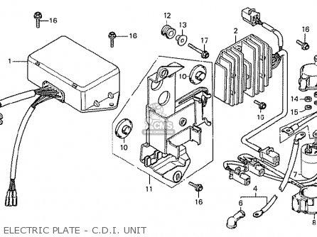 Honda Cx500 1978 Australia Electric Plate - C d i  Unit
