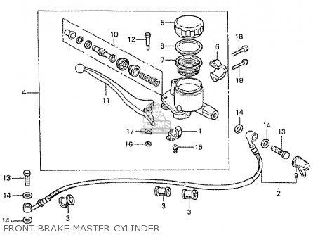 Honda Cx500 1978 Australia Front Brake Master Cylinder