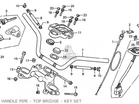 Honda Cx500 1978 Australia Handle Pipe - Top Bridge - Key Set
