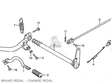 Honda Cx500 1978 Canada Brake Pedal - Change Pedal