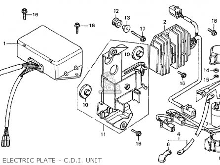 Honda Cx500 1978 Canada Electric Plate - C d i  Unit