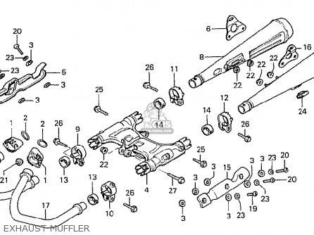 Honda Cx500 1978 Canada Exhaust Muffler