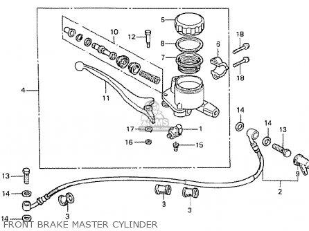 Honda Cx500 1978 Canada Front Brake Master Cylinder