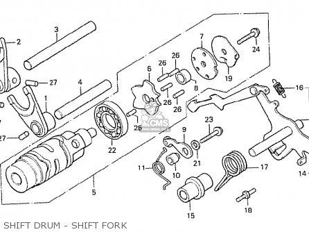 Honda Cx500 1978 Canada Shift Drum - Shift Fork