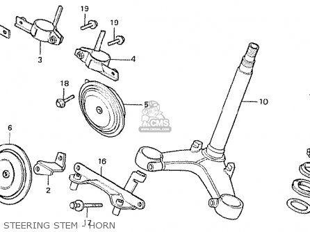 Honda Cx500 1978 Canada Steering Stem - Horn