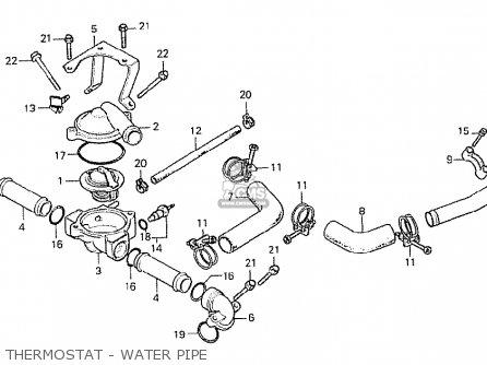 Honda Cx500 1978 Canada Thermostat - Water Pipe