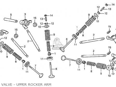 Honda Cx500 1978 Canada Valve - Upper Rocker Arm