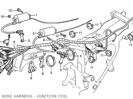 Honda Cx500 1978 Canada Wire Harness - Ignition Coil