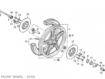 Honda Cx500 1978 England Front Wheel - Disk